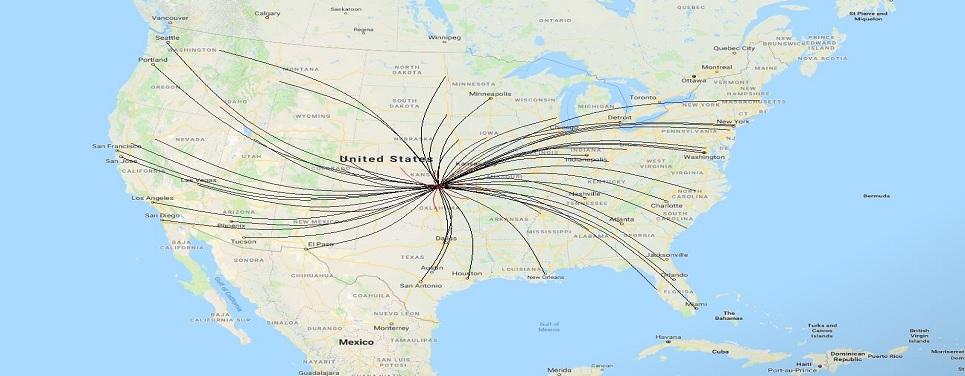 Alaska Airlines Hubs & Destinations