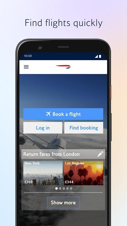 British Airways Reservations via mobile app