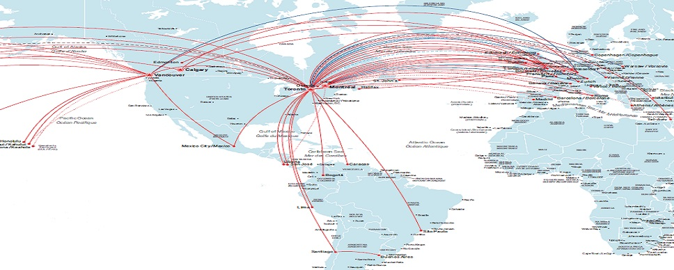 Destinations served by Air Canada