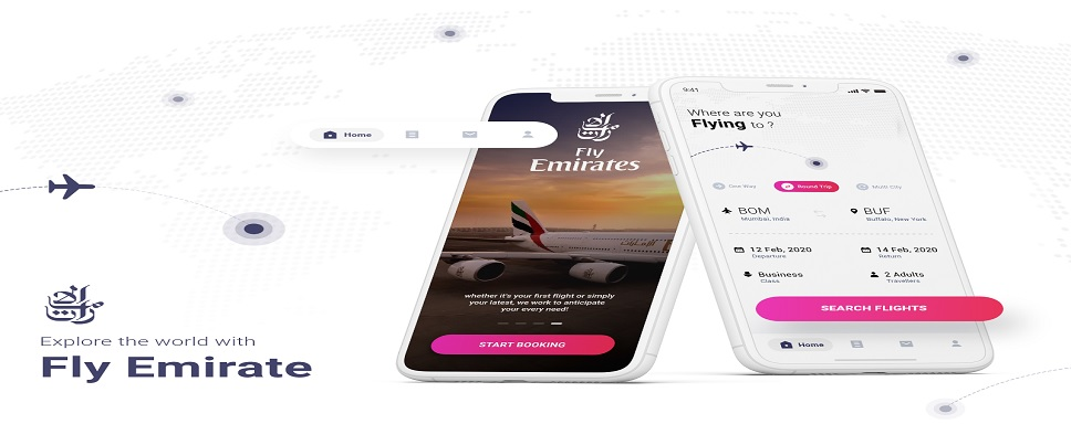 Emirates Reservations through the mobile app